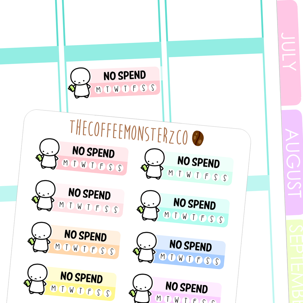 no spend habit tracker, TheCoffeeMonsterzCo