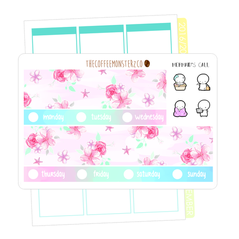 mermaid's call bottom washi