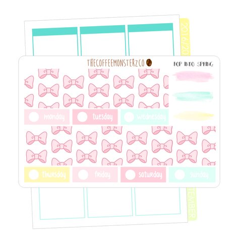 hop into spring bottom washi