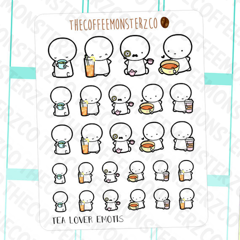 tea lovers emotis, TheCoffeeMonsterzCo