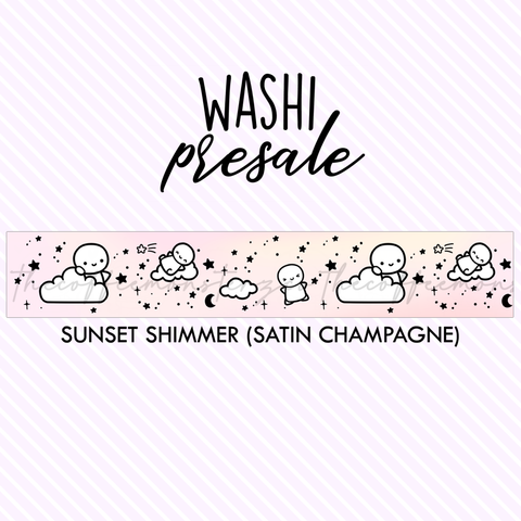 PRESALE Sunset Shimmer Washi Tape (Satin Champagne Foil)