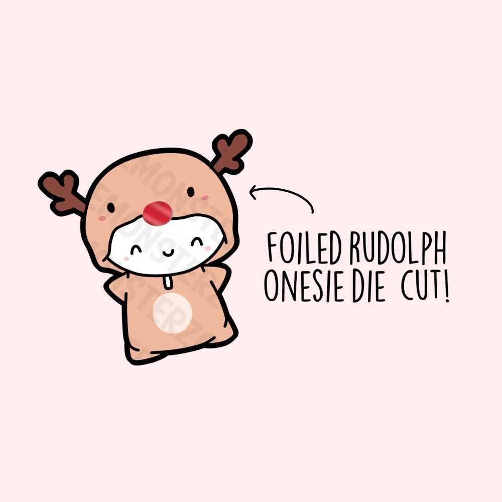Foiled Rudolph Die Cut