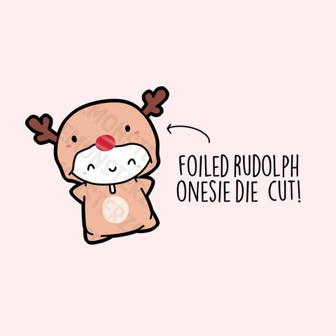Foiled Rudolph Nose Die Cut