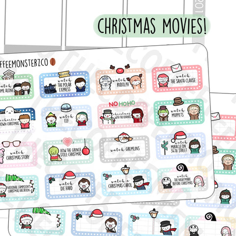 Christmas Movie Marathon Marquees (RESTOCK)