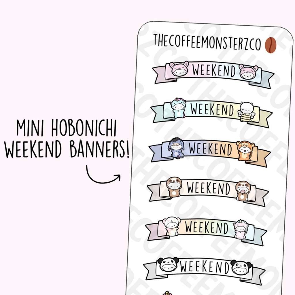 Mini Onesie Weekend Banners (Hobonichi)