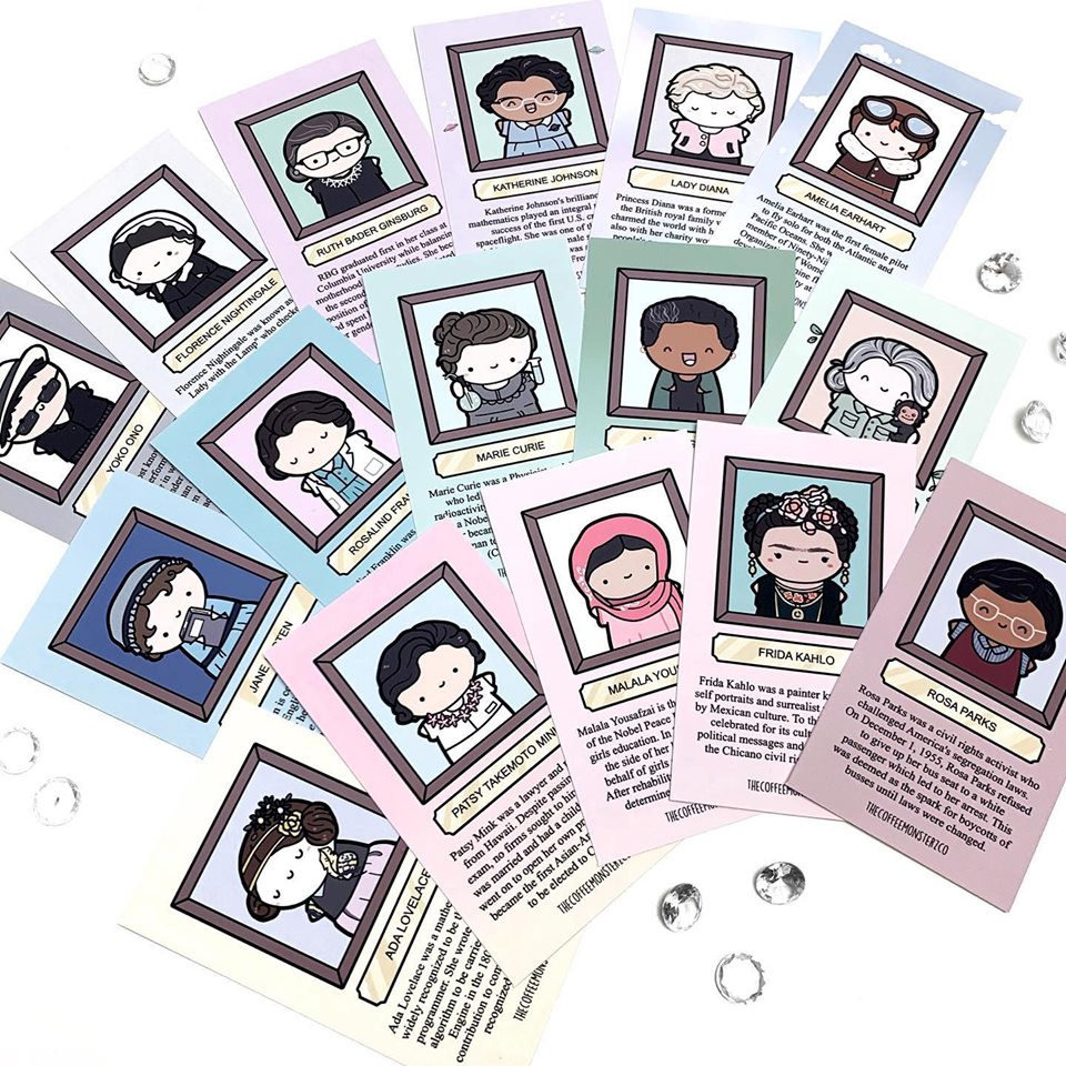 Influential Women Information Card Set