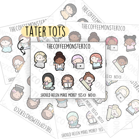 Tater Tots Stickers