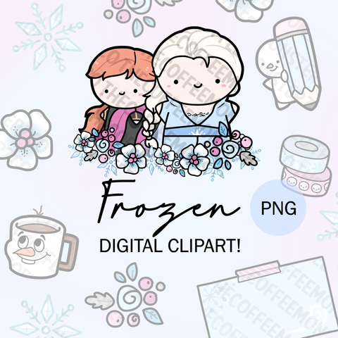 Frozen Emotis Clipart (Digital Files)