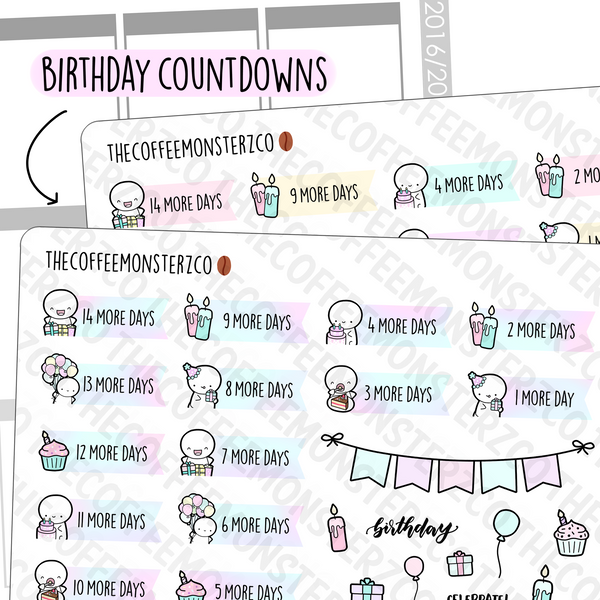 Emoti Birthday Countdowns