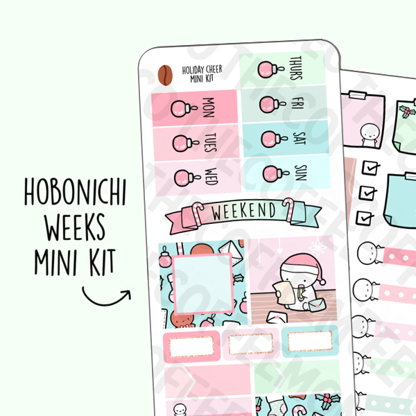 Holiday Cheer Hobonichi Weeks Kit