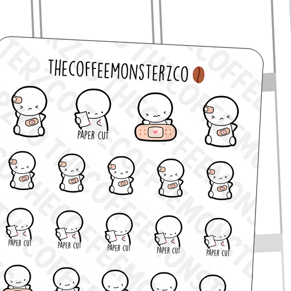 Ouch... Emotis, TheCoffeeMonsterzCo