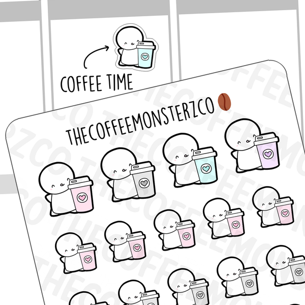 Coffee Cup Emotis, TheCoffeeMonsterzCo