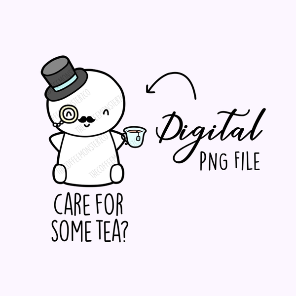 Fancy Tea Emoti (Digital File), TheCoffeeMonsterzCo
