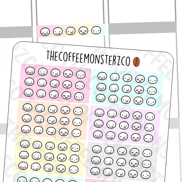 Pastel Galaxy Emoti HEADers, TheCoffeeMonsterzCo