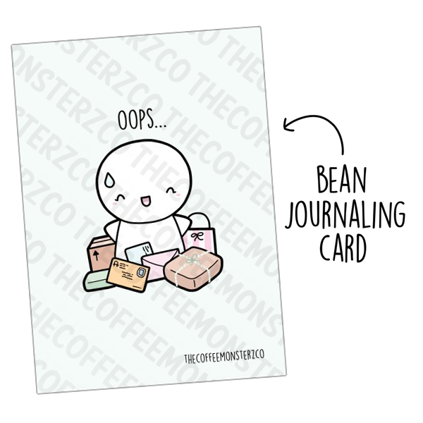 Oops...Too Much Shopping! (Bean Card), TheCoffeeMonsterzCo