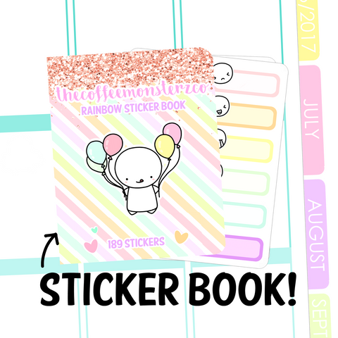 Rainbow Functional Sticker Book