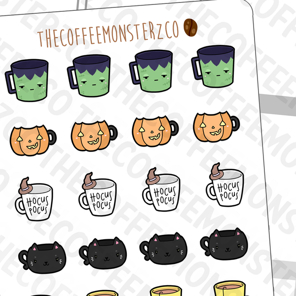 Halloween Mug Doodles (FINAL STOCK), TheCoffeeMonsterzCo