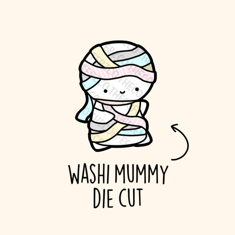 Washi Mummy Die Cut