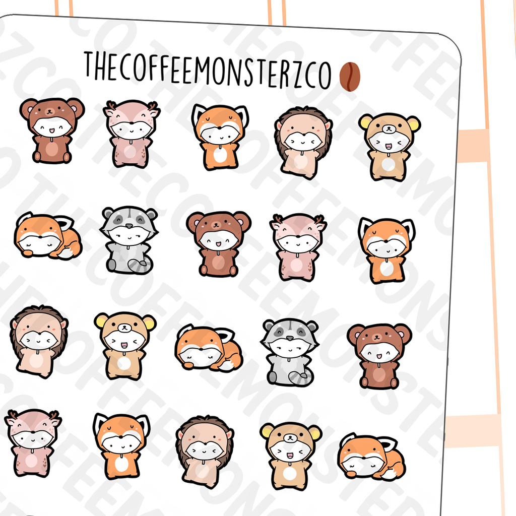 Fall Critters Onesies Sampler, TheCoffeeMonsterzCo