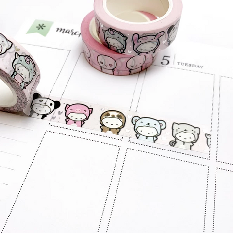Limited Overstock Anniversary Onesies Washi Tape (Silver Foil)