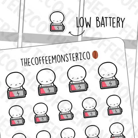Low Battery Emotis, TheCoffeeMonsterzCo