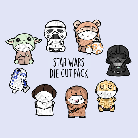 MayThe Fourth Die Cut (Set of 8)