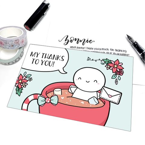 Restocked: My Thanks to You - Blank Postcard