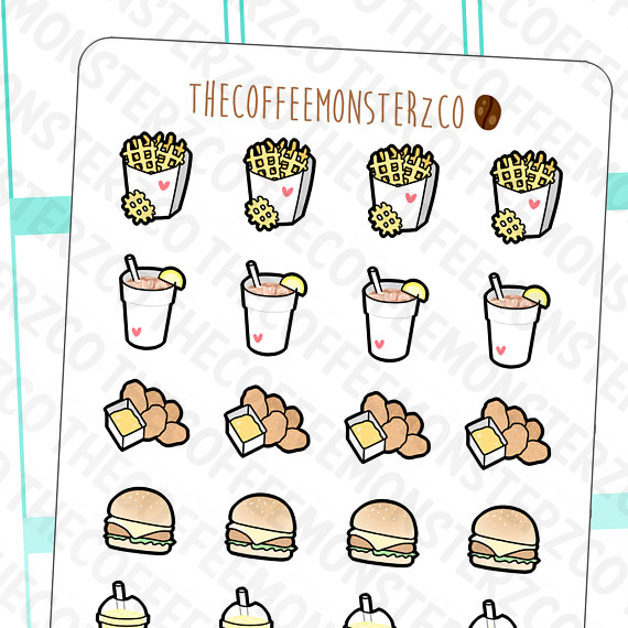 chicken & fries doodles, TheCoffeeMonsterzCo