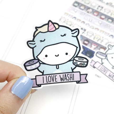 """I Love Washi"" Unicorn Vinyl (no limits)"