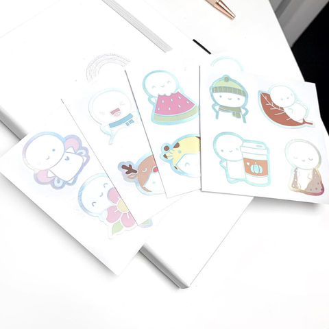 Limited Quantities - Seasonal Emoti Seal Stickers (Holo Foil)