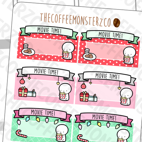 Christmas Emoti Movie Marquees E295 (FINAL STOCK), TheCoffeeMonsterzCo