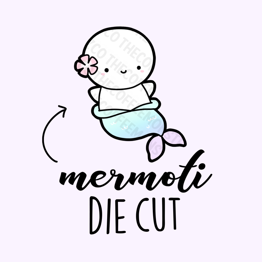 Mermaid Emoti Die Cut (Mermoti), TheCoffeeMonsterzCo
