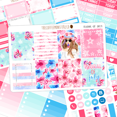 floral of july full vertical kit
