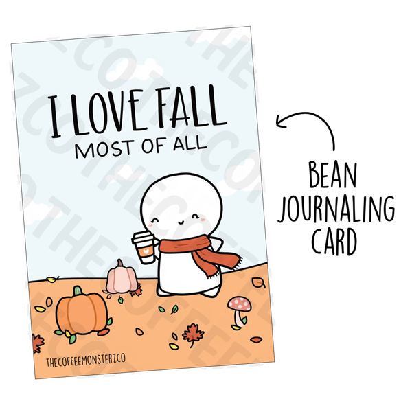 I Love Fall Most of All (Bean Card), TheCoffeeMonsterzCo