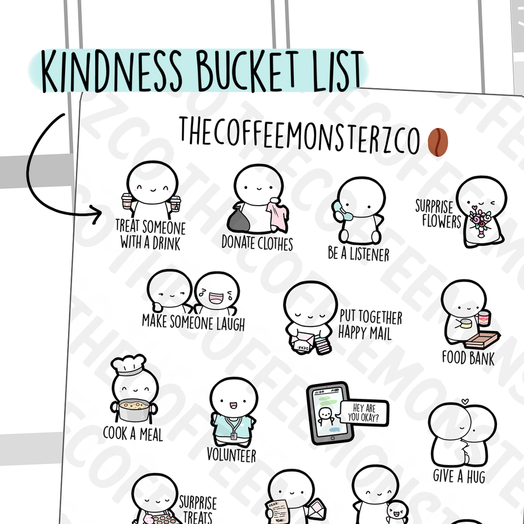 Kindness Bucket List