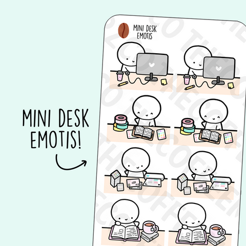 Mini Desk Emotis, TheCoffeeMonsterzCo