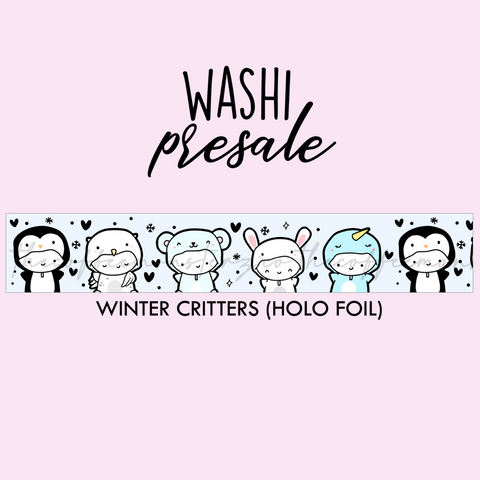 PRESALE Winter Critters Washi Tape (Holo Foil)