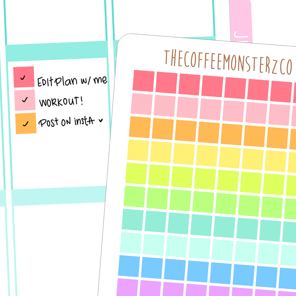 rainbow square checkboxes, TheCoffeeMonsterzCo
