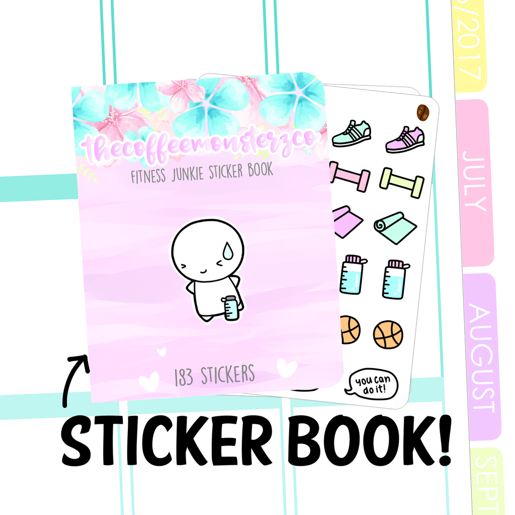 fitness junkie Sticker Book