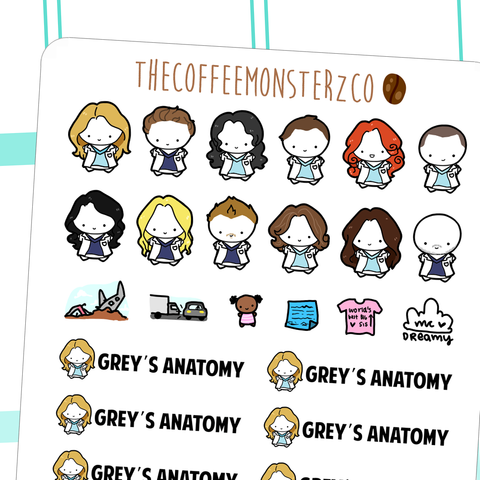 grey's anatomy emotis, TheCoffeeMonsterzCo