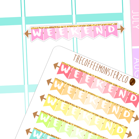 rainbow weekend banners, TheCoffeeMonsterzCo