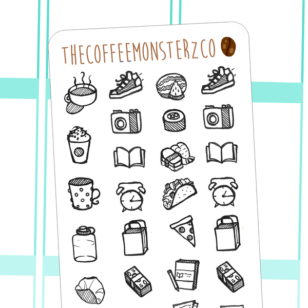 assorted doodles, TheCoffeeMonsterzCo