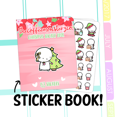 PRESALE christmas sticker book, TheCoffeeMonsterzCo