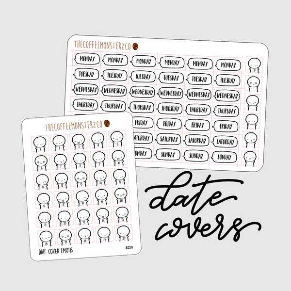 emoti date covers, TheCoffeeMonsterzCo