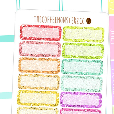 glitter quarter boxes, TheCoffeeMonsterzCo