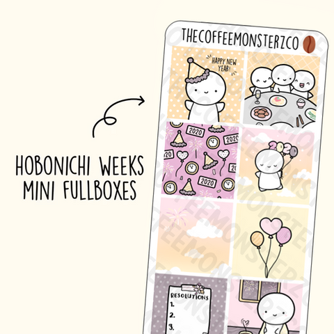 New Years Hobonichi Weeks Mini Fullboxes