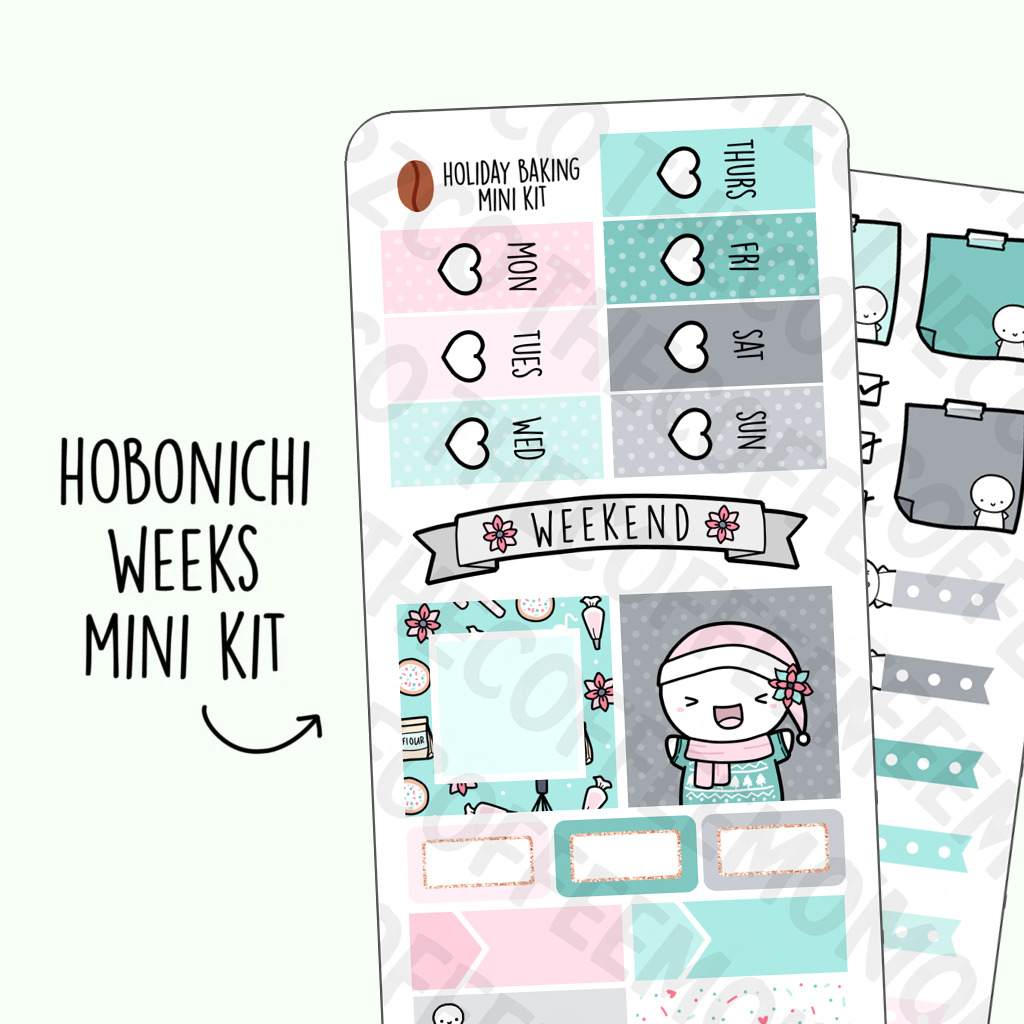 Holiday Baking Hobonichi Weeks Kit