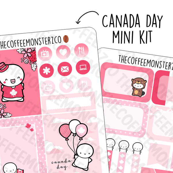 Canada Day 2 Page Mini Kit, TheCoffeeMonsterzCo