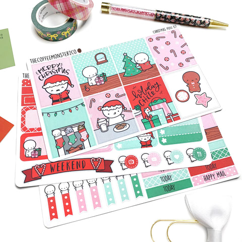 Christmas Emoti Mini Kit (3-4 pages)