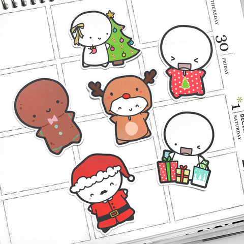 Christmas Emoti Diecuts, TheCoffeeMonsterzCo